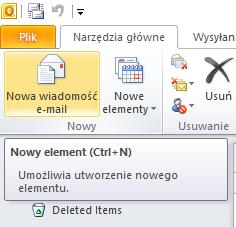 Nowa wiadomość e-mail
